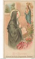 Chromo Souvenir De La Trappe D' AIGUEBELLE 26 Drôme SAINTE EDWIGE S. Jean Damascène  ( Prière Religieux )( Recto Verso ) - Aiguebelle
