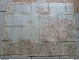 Carte  TARIDE Routière N° 5 Bretagne Section Nord  ( Sur Toile / Ou Carte Toilée ) - Strassenkarten