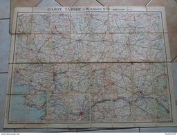 Carte  TARIDE Routière N° 9 Bretagne Sud  ( Sur Toile / Ou Carte Toilée ) - Strassenkarten