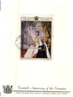 (10) Cook Island FDC - 1972/3 - Queen Elizabeth (2 Covers) - Islas Cook