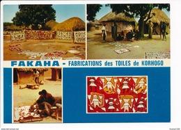 Carte  ( Format 15 X 10,5 Cm ) Côte D' Ivoire Fakaha Fabrication  Des Toiles De Korhogo  ( Recto Verso ) - Costa De Marfil