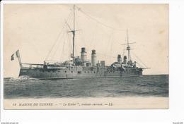 Carte  Marine De Guerre  Croiseur Cuirassé  Le Kleber  ( Navire De Guerre ) ( Recto Verso ) - Oorlog