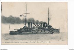 Carte  Marine De Guerre   Cuirassé   Dreadnoughts  Vergniaud   ( Navire De Guerre ) ( Recto Verso ) - Warships