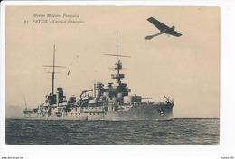 Carte  Marine Militaire Française  Patrie  Cuirassé  ( + Avion ) ( Recto Verso ) - Oorlog