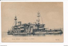 Carte De La Marine Militaire  Cuirassé Le  Hoche  ( Navire De Guerre )( Recto Verso ) - Guerra