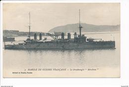 Carte De La Marine De Guerre Française  Le Dreadnoughts  Mirabeau ( Navire De Guerre ) ( Recto Verso ) - Oorlog