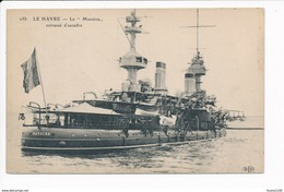 Carte  Le Havre   Cuirassé Le Masséna  ( Navire De Guerre )( Recto Verso ) - Oorlog