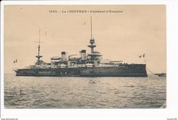 Carte  Le Suffren   Cuirassé  ( Navire De Guerre )( Recto Verso ) - Guerra
