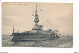 Carte Du Cuirassé Amiral Tréhouart  ( Navire De Guerre )( Recto Verso ) - Guerra