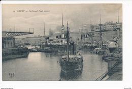 Carte  De  Brest  Grand Pont Ouvert  ( Navire De Guerre Ou Autre Bateau ) - Guerre