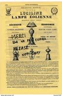 Année 1866 Lampisterie LUCILINE Lampe éolienne Lanterne Usine à ROUEN Sentence De La Contrefaçon Sur élixir De Guillié - Advertising