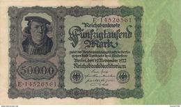 Billet De Banque  Germany ALLEMAGNE 50000 MARK 1922 - 1918-1933: Weimarer Republik