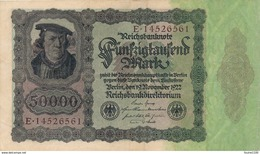 Billet De Banque  Germany ALLEMAGNE 50000 MARK 1922 - [ 3] 1918-1933 : Weimar Republic