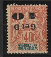GUADELOUPE N° 46*  - Surcharge à L'envers - Guadeloupe (1884-1947)