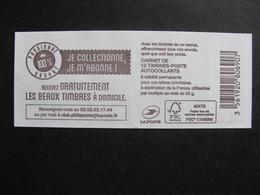 TB Carnet 1599-C6 ,avec Repère électronique Rouge, Neuf XX. - Booklets
