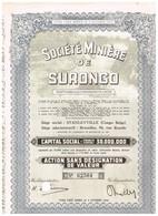 Titre Ancien - Société Minière De Surongo - Sté Congolaise à Responsabilité Limitée - Titre De 1953 - Afrika