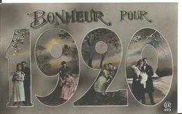 CARTE FANTAISIE ....BONNE ANNÉE 1920 - Nieuwjaar