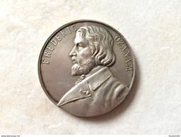 Médaille En Bronze Corbierre FREDERIC OZANAM In Memoriam Primi Centenar II Sociétatis S. Vincent II à Paulo Auctoris - Other