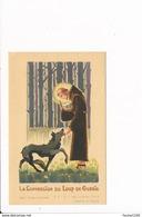 Image Religieuse La Conversion Du Loup De Gubbio ( Saint François D'assise )( Recto Verso ) - Imágenes Religiosas