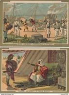 Lot De 2 Chromos Chromo Du Chocolat L. REVAULT ( Laas ) Guerre D' Abyssinie ( Recto Verso ) - Chocolate