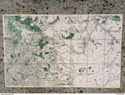 Carte Toilée Géographique DESBRUSLINS En 1757 CHARTRES Gallardon Maintenon Senonches Nogent Le Rotrou  Mitainvilliers - Mapas Geográficas