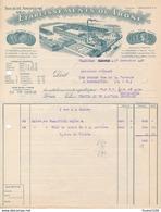 Facture Illustrée Usine Ets Du Trône écrite à CHARTRES En 1928 ( Pont De Metz / Paris / Ivry / Reims / Clermont 60 Oise - Francia
