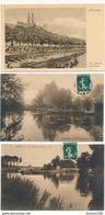 Lot De 3 Cartes D' AMIENS   Les Hortillonages / Les Bords De La Somme / Le Marché Sur L'eau - Amiens