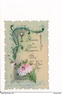 Image / Carte Peinte ( Artisanat ) En Celluloïd  De Communion ( élisabeth Soueme à Henri Brusseau 17 Mai 1908 ) - Images Religieuses