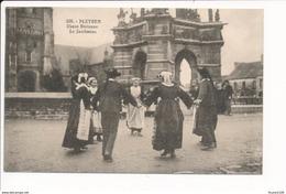 Carte De PLEYBEN  Danse Bretonne Le Jambadao ( Recto Verso ) - Pleyben