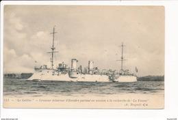 Carte  Le Croiseur éclaireur  D'escadre  ( A. Bougault )( Bateau De Guerre ) - Guerra
