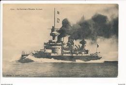 Carte Le Cuirassé  D'escadre  SAINT LOUIS   ( Bateau De Guerre ) - Warships