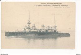 Carte  Marine Militaire Française  Cuirassé CHARLEMAGNE  ( Bateau De Guerre ) - Guerra