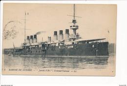 Carte  Marine De Guerre  Croiseur Cuirassé JEANNE D' ARC   ( Bateau De Guerre ) - Guerra