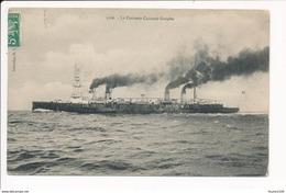 Carte Du Croiseur  Cuirassé  GUEYDON  ( Bateau De Guerre ) - Guerra