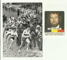 "** 1 X Persfoto + Chromo   **.- GASTON  ROELANDTS -1964--"""" Le Cross International De Woluwé """" + """" DE HERTOG E.a - Athlétisme"