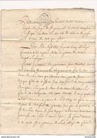 Acte Notarié Année 1765 Notaire De Saint Pierre Le Moutier Fait à Léré Pour Choizeau Moindrot De Sury Beaulieu ( Agogué - Manuscripten
