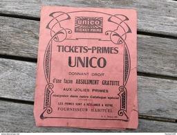 Tickets Primes ( Ticket Prime ) UNICO - Vieux Papiers