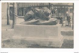Carte De PARIS Le Lion Furieux De Cain Place Des Abbesses Poste Postes Télégraphes Bureau N° 67  ( Recto Verso ) - Arrondissement: 18
