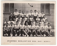FASCISMO BAMBINI GIL GIOVENTU' ITALIANA DEL LITTORIO - FOTO ORIGINALE SCUOLA TORINO 1939/40 - Personnes Anonymes