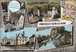 37 - Très Belle Carte Postale Semi Moderne Dentelée De  PREUILLY SUR CLAISE   Multi Vues - Other Municipalities