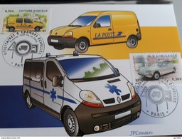 Carte Maximum  2003 Ambulance Kangoo La Poste. - Voitures
