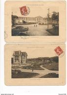 """Lot De 2 """" Carte Postale Géante """" LE TOUQUET PARIS PLAGE ( L' Hermitage / Le Jardin Public ) à La Civette ( Peu Courante - Le Touquet"""