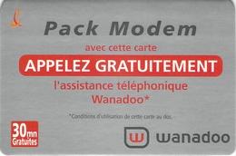 Carte Prépayée - WANADOO - FRANCE TELECOM - Francia