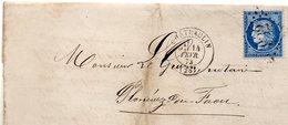 Finistère - LSC Affr N° 60A Obl GC 932 Càd Type 17 Chateaulin - Marcophilie (Lettres)
