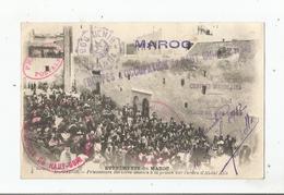 MOGADOR 5 EVENEMENTS DU MAROC PRISONNIERS BERBERES AMENES A LA PRISON SUR L'ORDRE D'ABDUL AZIZ (CACHETS MILITAIRES) - Autres