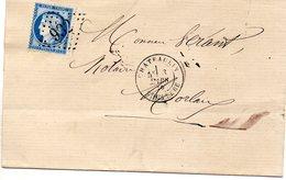 Finistère - LSC Affr N° 60C Obl GC 932 Càd Type 18 Chateaulin - Marcophilie (Lettres)
