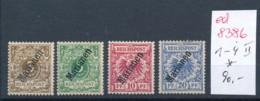 Marianen Nr. 1-4 *   ( Ed8386  ) Siehe Scan - Colonie: Mariannes