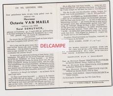 DOODSPRENTJE VAN MAELE OCTAVIE WEDUWE DEMUYNCK OOSTKAMP TORHOUT - SINT GODELIEVE 1888 - 1960  BEWERKT TEGEN KOPIEREN - Andachtsbilder