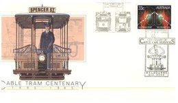 (9) Australia Cover - FDC - Cable Car Centenary  - 1985 - Autres