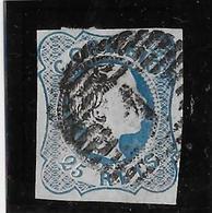 Portugal N°6 - Oblitéré - 1 Trou Vermiculaire Sinon TB - 1855-1858 : D.Pedro V